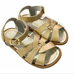 Salt Water Leather Sandals Size 8 Toddler - Gold